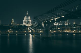 City-night-evening-river